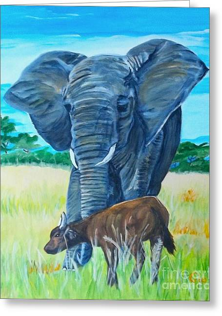 Zimbabwe Paintings Greeting Cards - You Lost Kid Greeting Card by Frank Giordano
