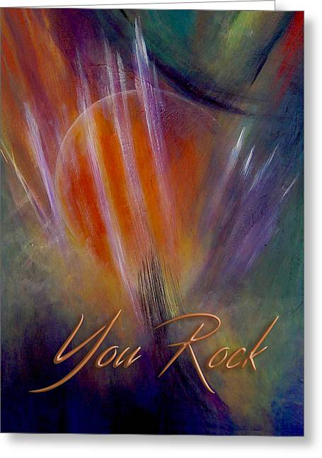 Party Invite Greeting Cards - You Rock Greeting Card by Thomas Lupari