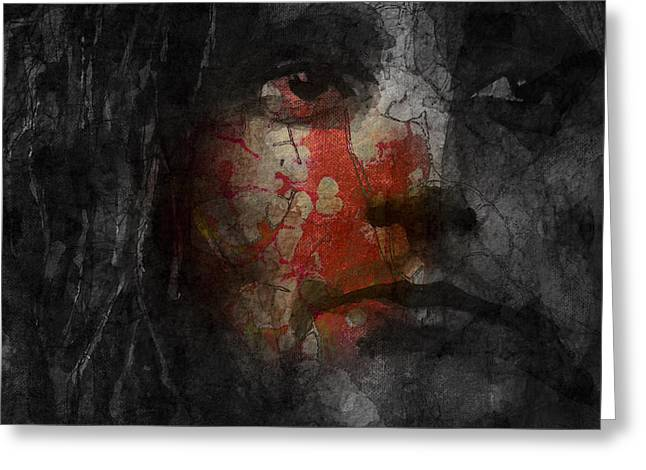 Glam Rock Greeting Cards - You Wear It Well  Greeting Card by Paul Lovering