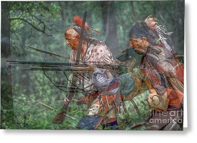 Muzzleloader Greeting Cards - You Were There...Battle of Bushy Run Greeting Card by Randy Steele
