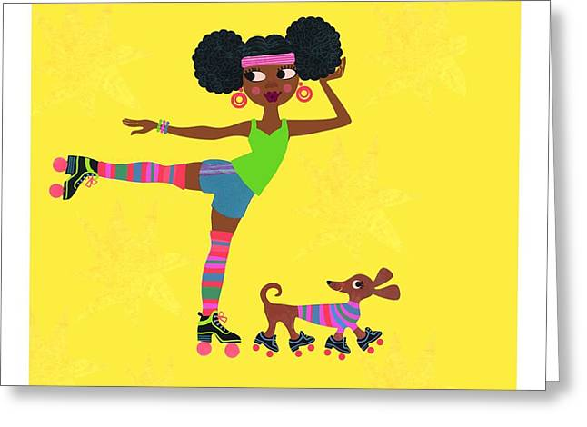 African-americans Greeting Cards - Young African American Woman Greeting Card by Gillham Studios