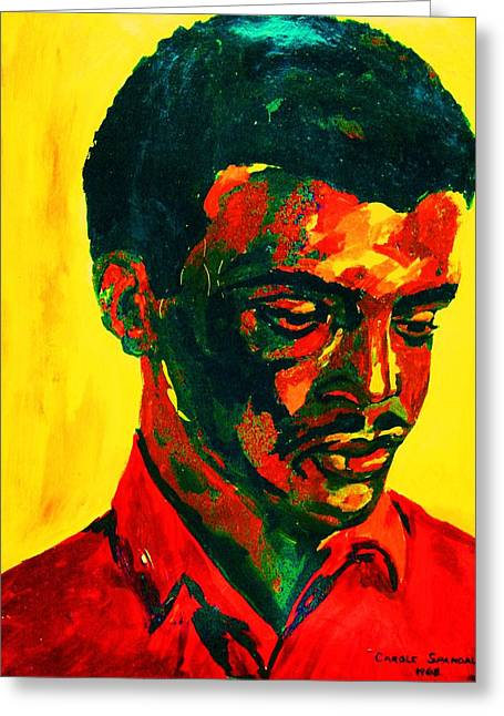 Your Pet Artist Greeting Cards - Young African Man Greeting Card by Carole Spandau