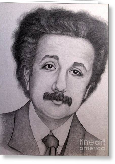 Young Albert Greeting Cards - Young Albert Einstein Greeting Card by Sonsoles Shack