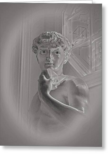 Michelangelo Greeting Cards - Young David Greeting Card by Frank Maxwell