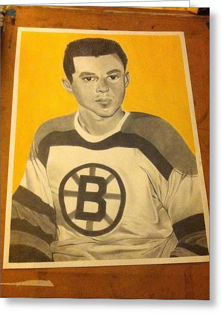 Player Drawings Greeting Cards - Young Don Cherry Greeting Card by Leah Sparks
