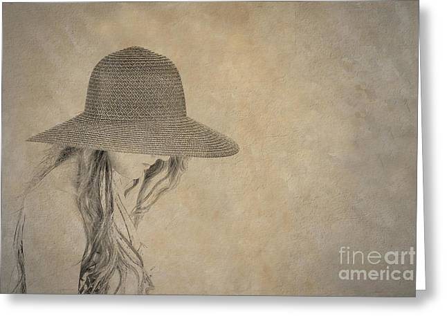 Childrens Books Digital Greeting Cards - Young Girl in Hat  Greeting Card by Randy Steele