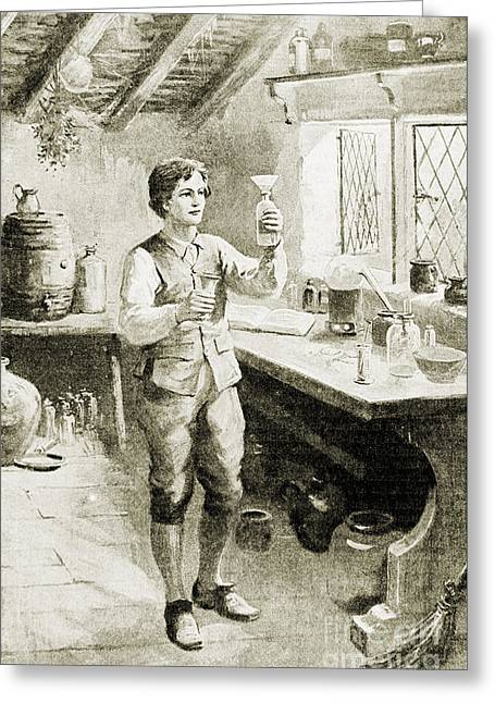 Young Humphry Davy Greeting Card by Wellcome Images