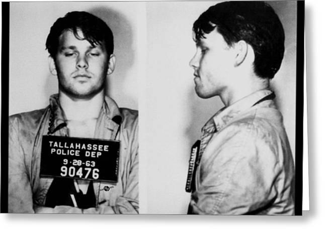 Young Jim Morrison Mug Shot 1963 Photo Greeting Card by Tony Rubino