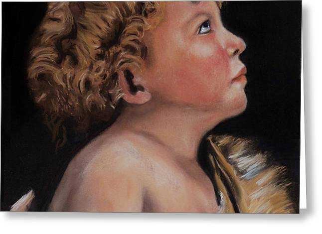 Young John the Baptist  Greeting Card by Peter Flint