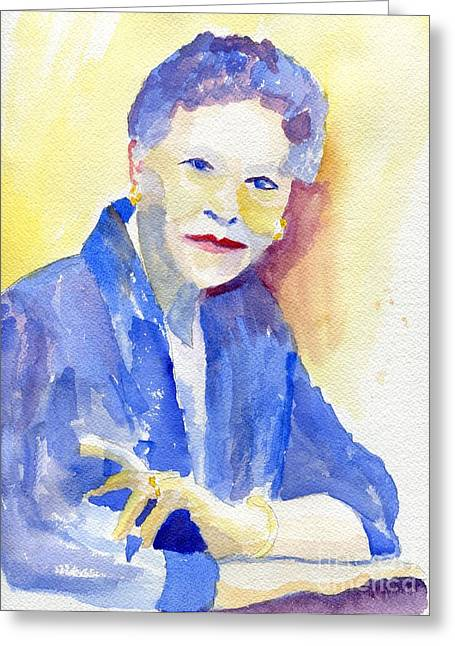 Rings On Fingers Greeting Cards - Young Lady Greeting Card by Joe Hagarty