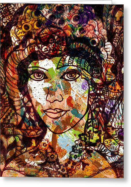 Young Maiden Greeting Card by Natalie Holland