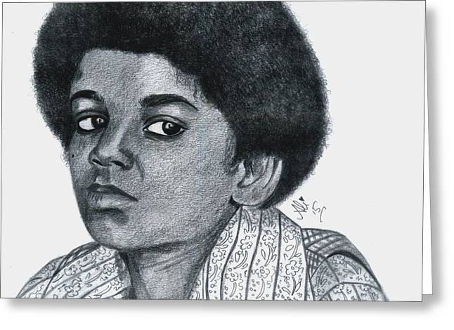 Michael Jackson Greeting Cards - Young Michael Jackson Greeting Card by Bobby Dar