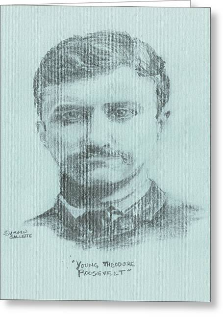 Republican Greeting Cards - Young Theodore Roosevelt Greeting Card by Andrew Gillette