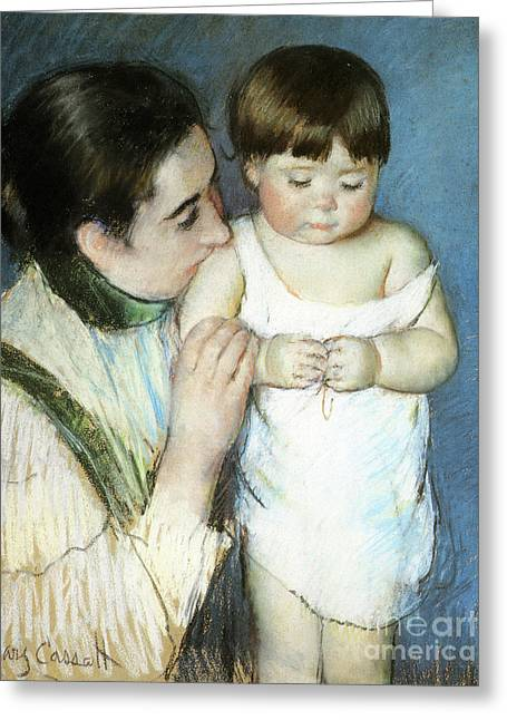 Young Thomas And His Mother Greeting Card by Cassatt