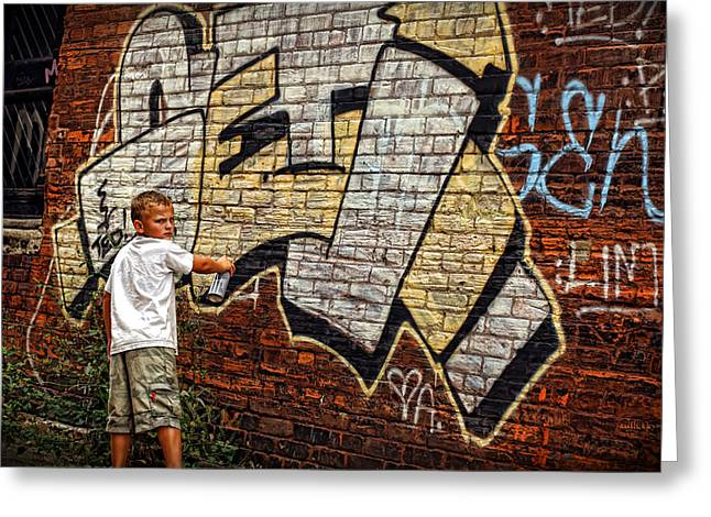 Young Vandal Too Greeting Card by Gordon Dean II