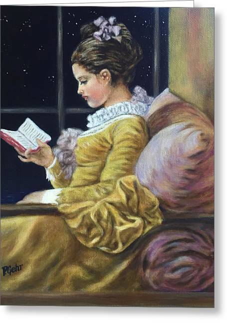 Revising Paintings Greeting Cards - Nocturne inspired by Fragonard Greeting Card by Dr Pat Gehr