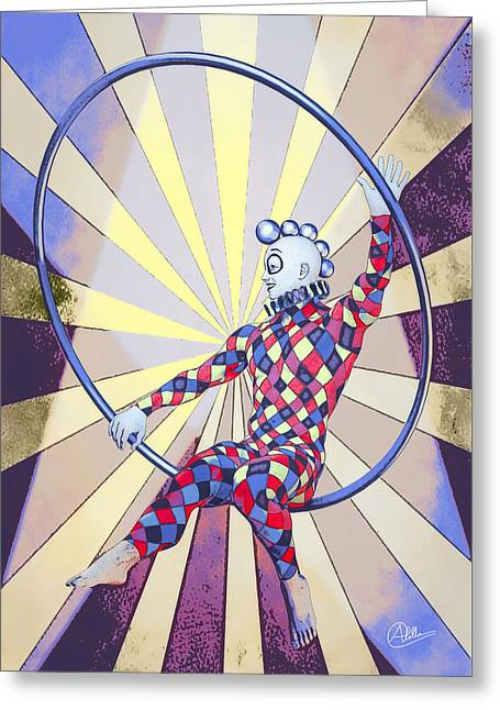 Younger Tightrope  Greeting Card by Quim Abella