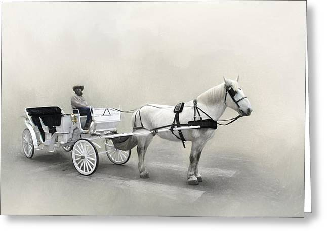 Your Carriage Awaits Greeting Card by David and Carol Kelly