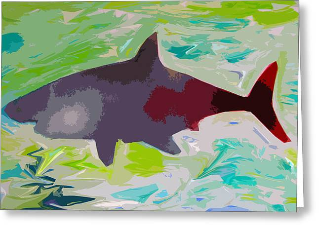 Your Friendly Shark Greeting Card by Robert Margetts