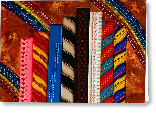 Swirls And Stripes Greeting Cards - Your Friends Greeting Card by Lori Wier
