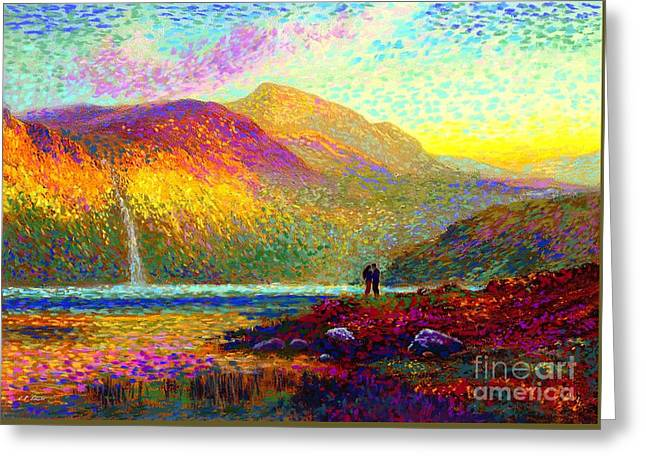Soulmate Greeting Card featuring the painting Your Love Colors My World, Modern Impressionism, Romantic Art by Jane Small