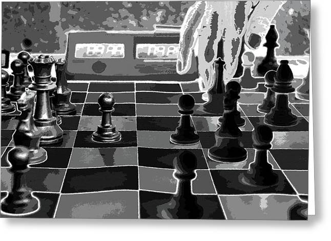 Chess Piece Digital Greeting Cards - Your Move Greeting Card by David Lee Thompson