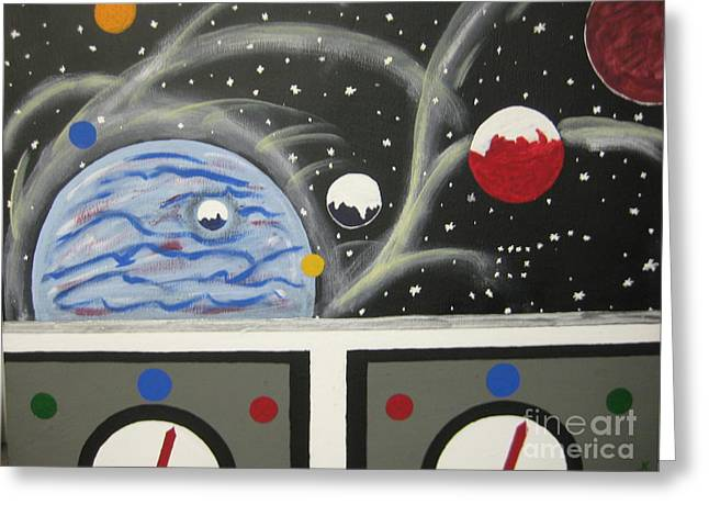 Outer Space Paintings Greeting Cards - Your the Pilot  Greeting Card by Jeffrey Koss