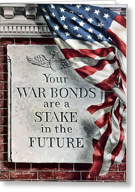 American Flag Art Greeting Cards - Your War Bonds Are A Stake In The Future Greeting Card by War Is Hell Store