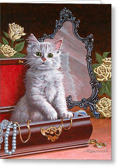 Playful Greeting Cards - Youre Home Early Greeting Card by Richard De Wolfe