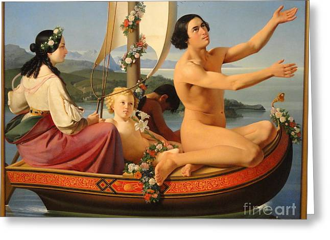 Canoe Paintings Greeting Cards - Youth from the series The Four Ages of Man Greeting Card by Ditlev Blunck