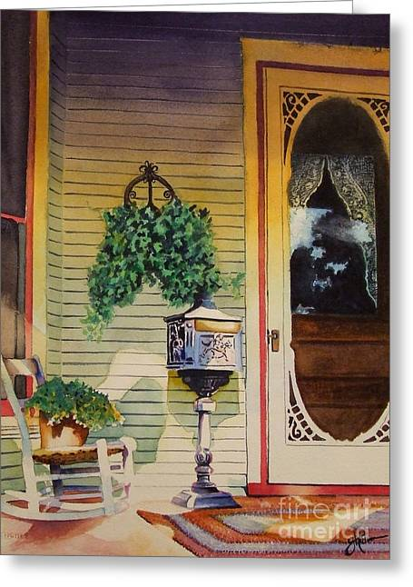 Screened Porchs Paintings Greeting Cards - Youve Got Mail Greeting Card by Greg Halom