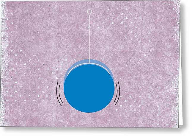 Toy Shop Greeting Cards - YoYo Greeting Card by Priscilla Wolfe