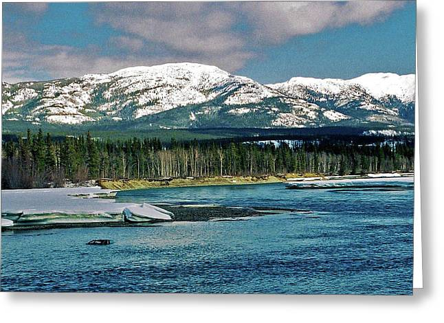 Whitehorse Greeting Cards - Yukon River Greeting Card by Juergen Weiss