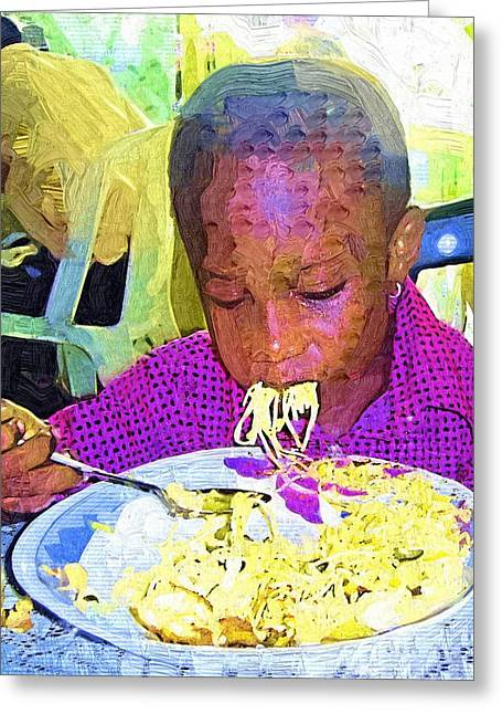 Ghana Greeting Cards - Yummy Greeting Card by Deborah MacQuarrie