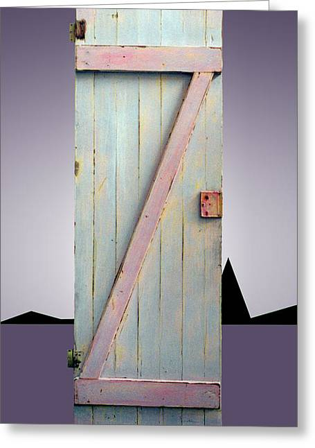 Z Door To New Frontiers Greeting Card by Asha Carolyn Young and Daniel Furon