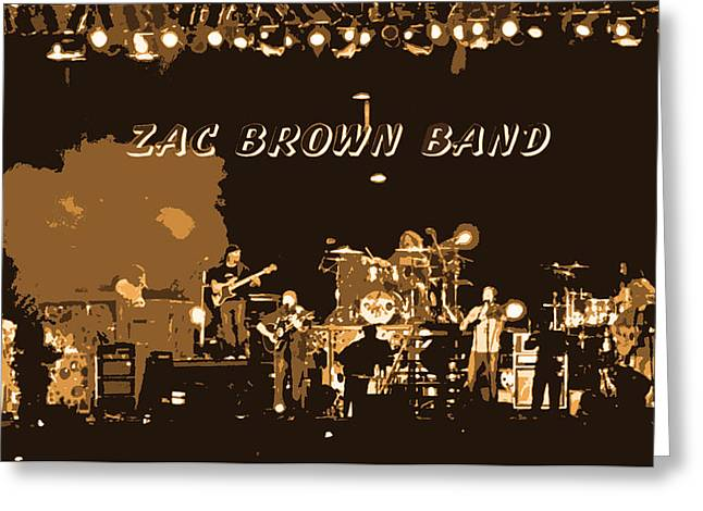 Zac Brown Band Cutout Abstract Greeting Card by Marian Bell