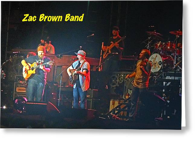 Zac Brown Band Performs Greeting Card by Marian Bell