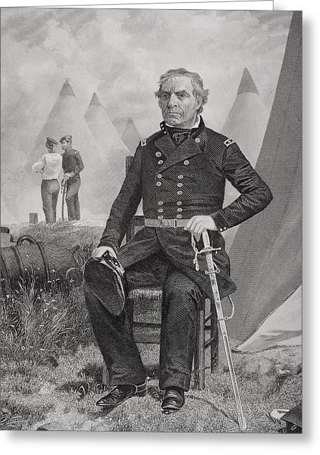 Fame Drawings Greeting Cards - Zachary Taylor 1784 To 1850. 12th Greeting Card by Ken Welsh
