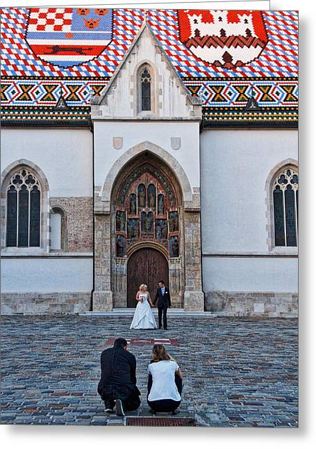 Famous Photographer Greeting Cards - Zagreb Wedding Portrait - Croatia Greeting Card by Stuart Litoff
