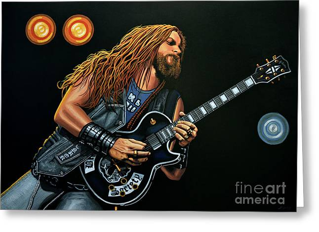 Zakk Wylde Greeting Card by Paul Meijering