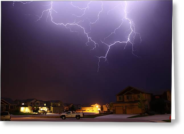 Lightning Strike Greeting Cards - Zap Greeting Card by Shane Bechler