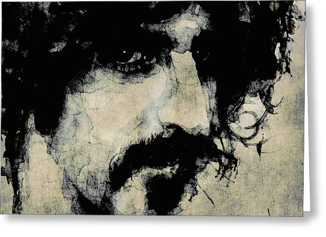 Pop Singer Greeting Cards - Zappa Greeting Card by Paul Lovering