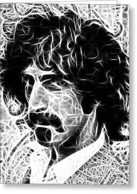 Frank Zappa Greeting Cards - Zappa Greeting Card by Paul Van Scott