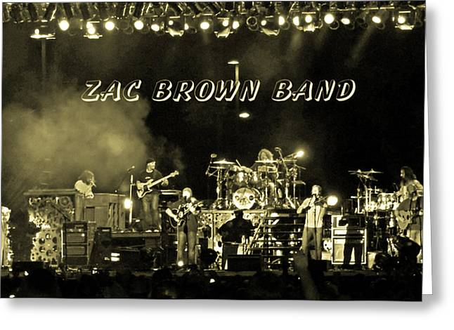 Zac Brown Band In Gray Tones Greeting Card by Marian Bell