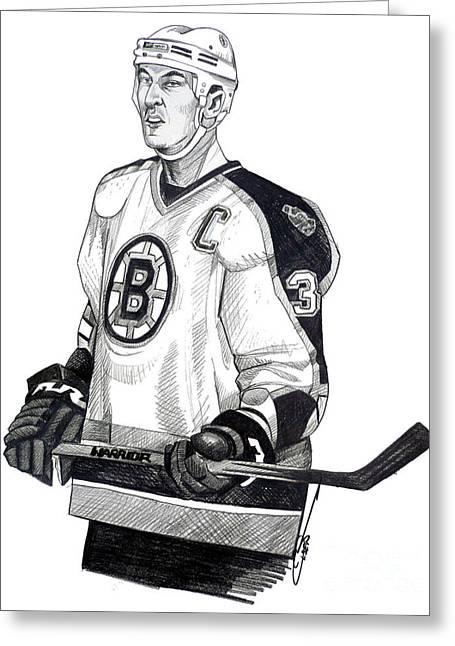 Hockey Drawings Greeting Cards - Zdeno Chara Greeting Card by Dave Olsen