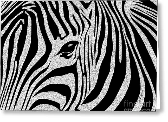 Jungle Animals Greeting Cards - Zebra 3 Greeting Card by Cheryl Young
