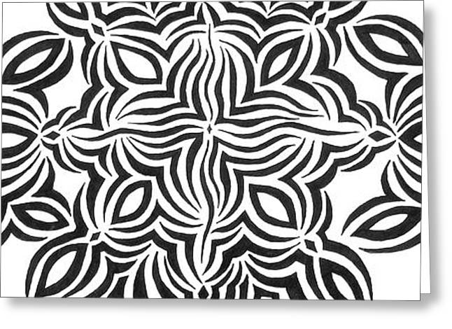 White Drawings Greeting Cards - Zebra Celebration Greeting Card by Beth Akerman