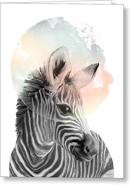 Zebra // Dreaming Greeting Card by Amy Hamilton