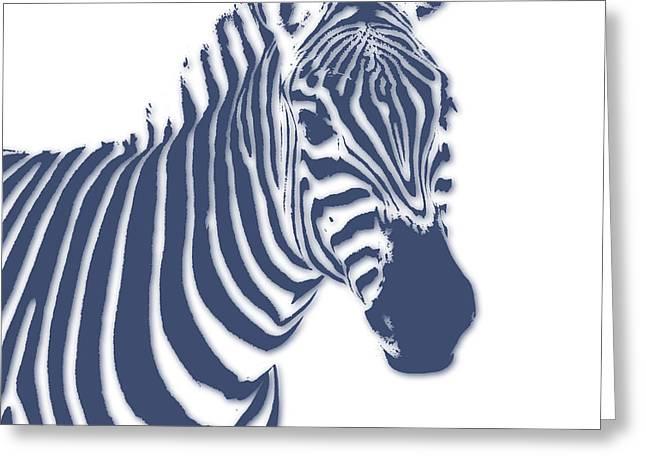 Zebra Greeting Card by Joe Hamilton
