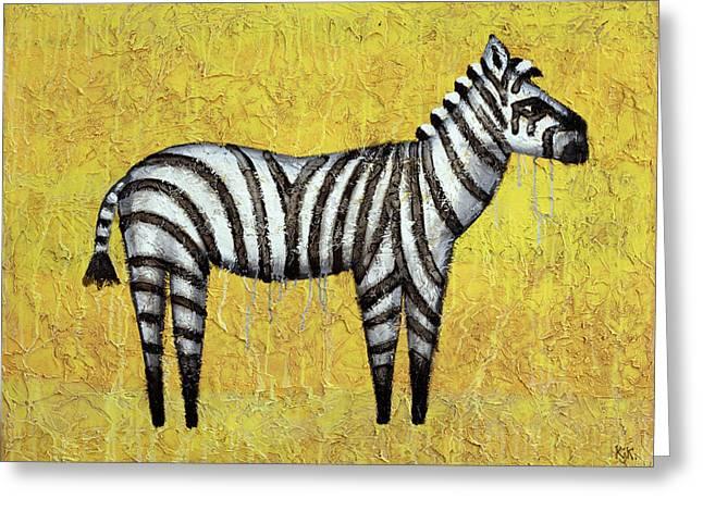 Zebra Greeting Card by Kelly Jade King